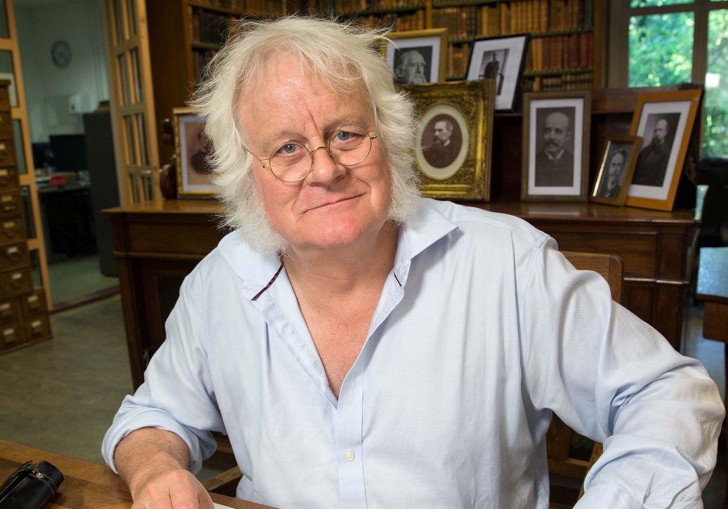 Redmond O'Hanlon in de Artis Bibliotheek - Foto: Matthieu van den Berg