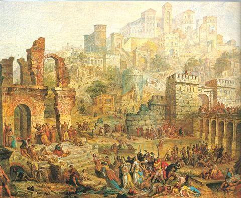 Slachting van Joden in Metz (Frankrijk) tijdens de Eerste Kruistocht, 1096