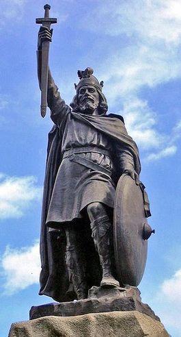 Alfred de Grote, standbeeld in Winchester