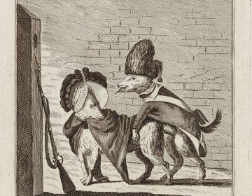 Dapperheid der Keezen, spotprent op de Patriotten (1787) - Rijksmuseum