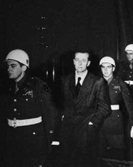 Hans Fritzsche tijdens het Proces van Neurenberg