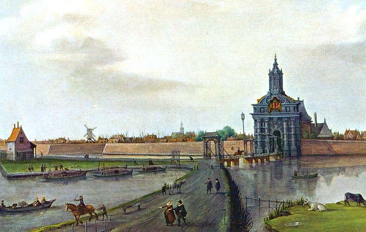 De 17e-eeuwse Haarlemmerpoort van Hendrick de Keyser