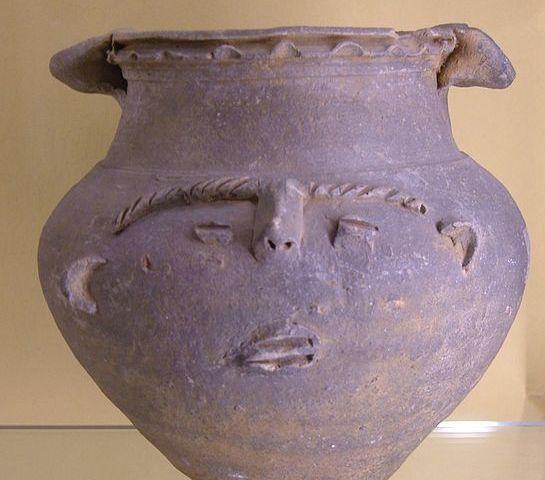 Gezichtsurn uit de eerste eeuw die bij Nijmegen gevonden is