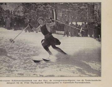 Jonkvrouw Schimmelpenninck van der Oye tijdens de Winterspelen van '36 (KB)