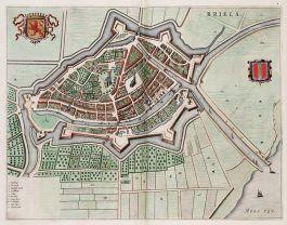 Brielle op een kaart van Blaeu uit 1649