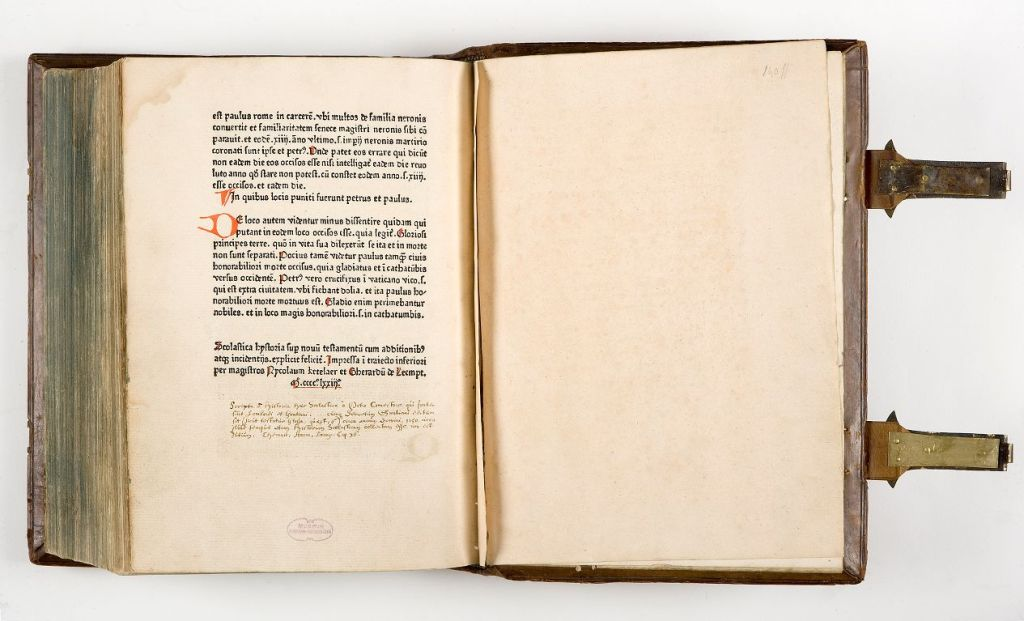 Historia scholastica, 1473 (Meermanno, MMW C 52.2)