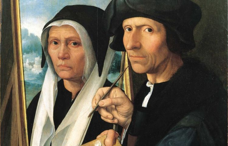 Jacob van Oostsanen schildert Anna (Amsterdam Museum)