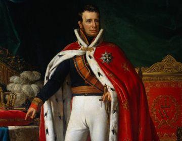 Koning Willem I in koningsmantel
