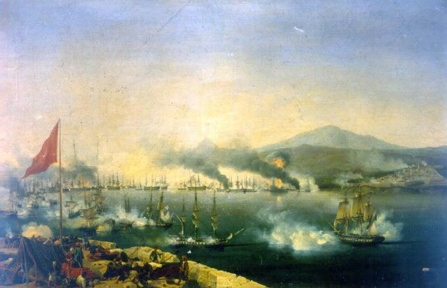 Slag bij Navarino - Ambroise-Louis Garneray