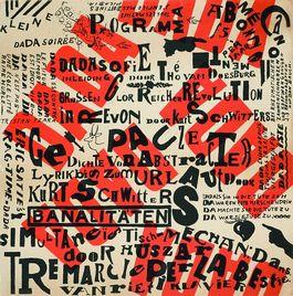 Theo van Doesburg - affiche voor Dada-Soiree, 1922