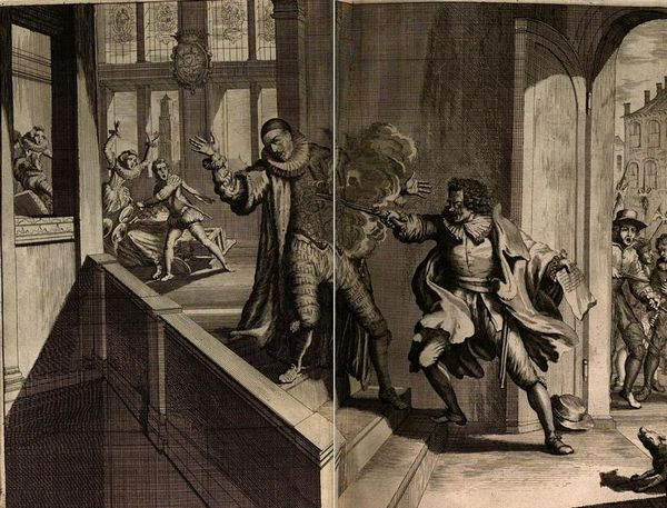 Moord op Willem van Oranje, 1584: 'En toen kreeg het van alle kanten stijgende gevaar een nieuwe impuls door Oranjes dood, op een zeer ongunstig moment als we naar de Nederlanden kijken, die in hun roerige en geschonden staat alleen door zijn wijs beleid bestuurd konden worden. (...) Geen begrafenis geschiedde ooit met zoveel rouwbeklag van het volk, welhaast tot wanhoop toe. (Overbekende illustratie in 'Annales', 1681)