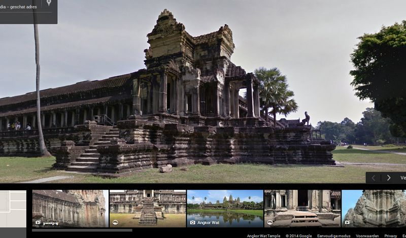 Angkor Wat op Google Street View