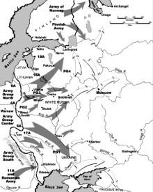 Operatie Barbarossa, de Duitse aanval op de Sovjetunie op 22 april 1941. (Wikimedia Commons)
