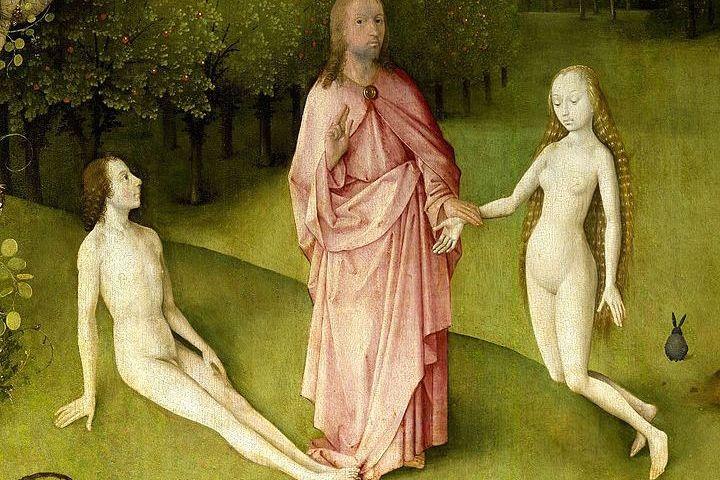 Adam Eva - Detail uit een triptiek van Jheronimus Bosch