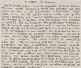 Bericht in de Groninger Courant