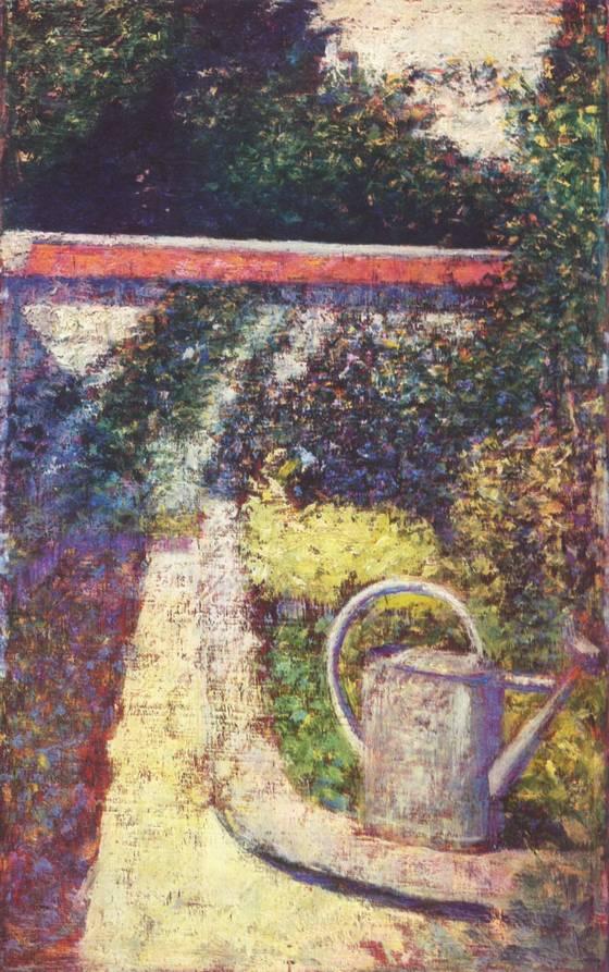 De gieter - Georges Seurat, ca. 1883