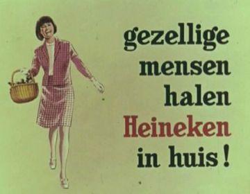 Gezellige mensen halen Heineken in huis (Stadsarchief Amsterdam)