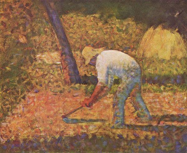 Werkende boer - Georges Seurat, ca. 1882