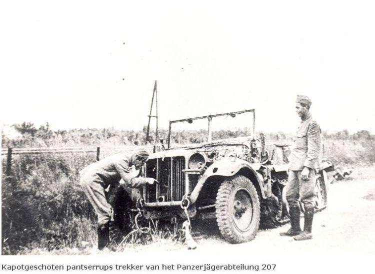 Vernielde Duitse artillerietrekker