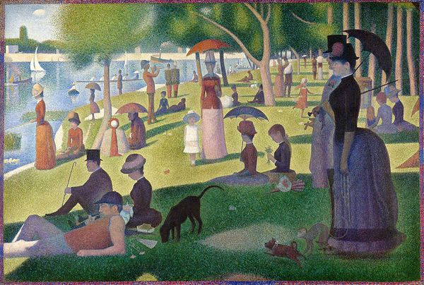 Un dimanche après-midi à l'Île de la Grande Jatte - Georges Seurat, 1884