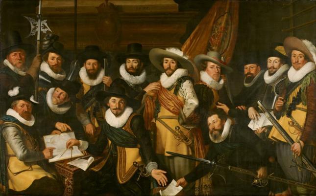 Werner Jacobsz. van den Valckert, Schutters van de compagnie van kapitein Albert Coenraetsz. Burgh en luitenant Pieter Evertsz. Hulft, 1625 (Amsterdam Museum)