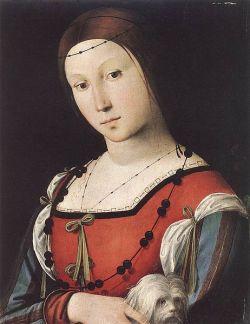 Ca. 1500 door Lorenzo Costa (1460-1535). Met vergelijkbare houding