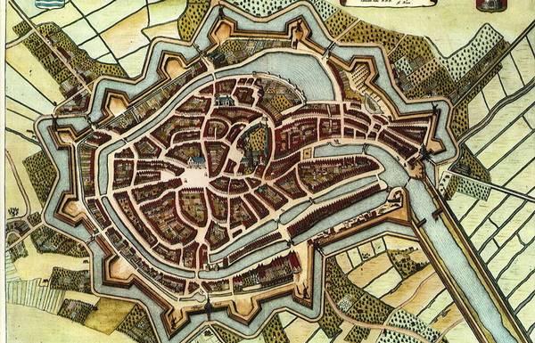 Middelburg in 1652 volgen Blaeu