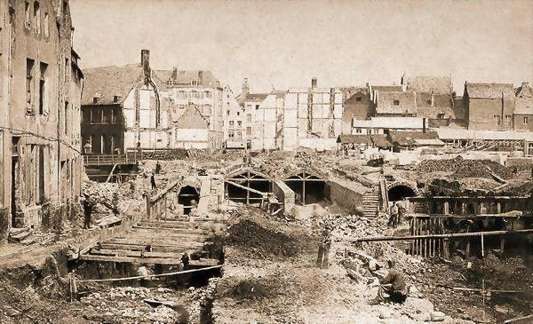 Overwelving van de Zenne. Begin van de werkzaamheden 1867