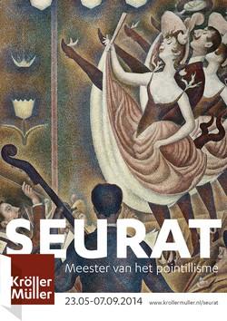 Poster voor de Seurat-tentoonstelling