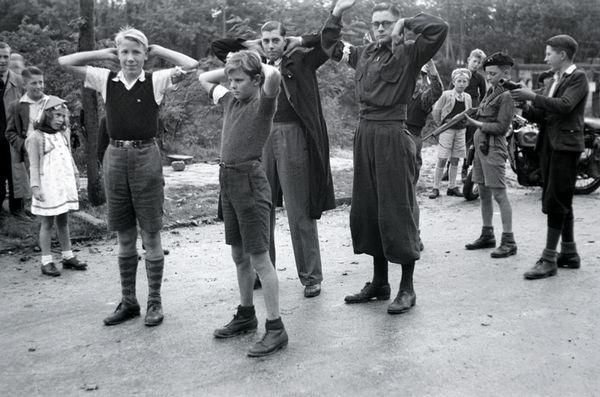 Still uit een korte film over de bevrijding van Harderwijk in 1945