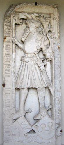 Herdenkingssteen voor Oswald von Wolkentein in Italië - cc