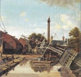 Amsterdamse scheepswerf van Pieter Haverkamp (1825, Rijksmuseum)