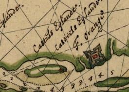 Oude kaart van het gebied