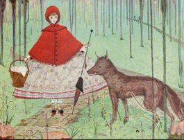 Roodkapje en de wolf - Harry Clarke, 1922