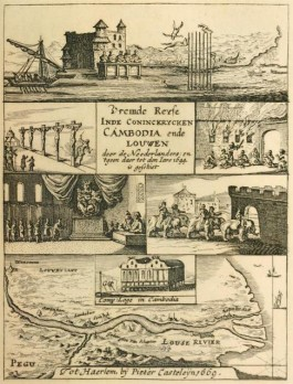 Illustratie in 'Vremde Geschiedenissen' van Gerrit van Wuysthoff (in 'De Oost-Indische Compagie in Cambodja en Laos')