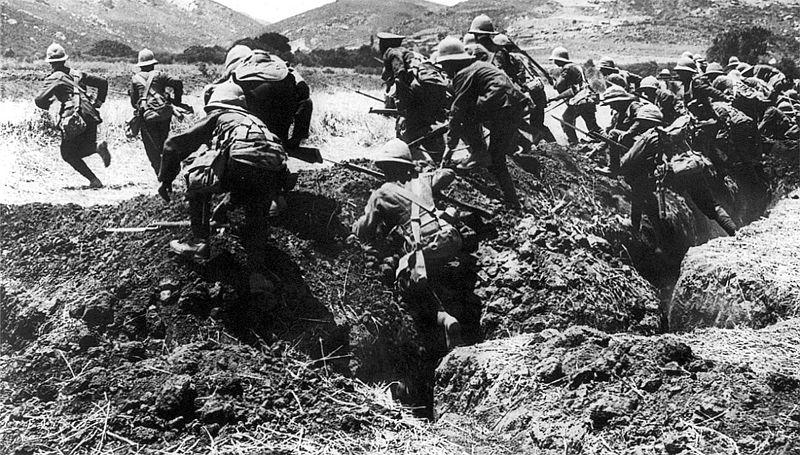 Britse infanterie bij Gallipoli