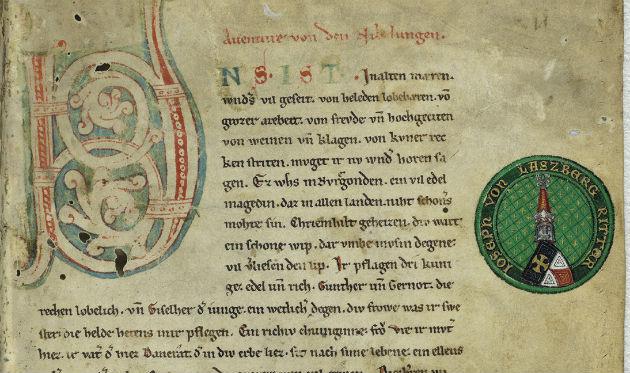 Eerste pagina van het Nibelungenlied - cc