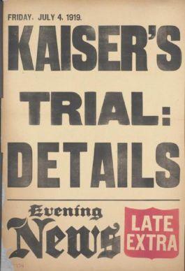 Krantenbericht uit 1919 over het uitleveringsverzoek (The Evening News, 4 juli 1919)