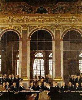 Ondertekening van het Verdrag van Versailles (William Orpen - Imperial War Museum Collections)