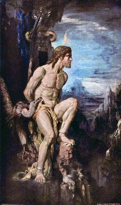 De mythe van Prometheus - Gustave Moreau
