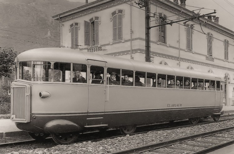 Littorina in Borgone, ansichtkaart ca. 1933
