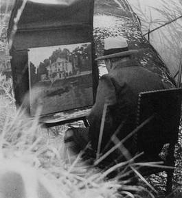 Schilderende Churchill – Foto Sir Winston Churchill Archive Fonds