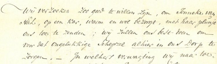 Fragment uit de brief - BHIC