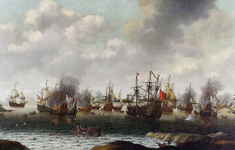 Aanval op de Medway, juni 1667, door Pieter Cornelisz van Soest.