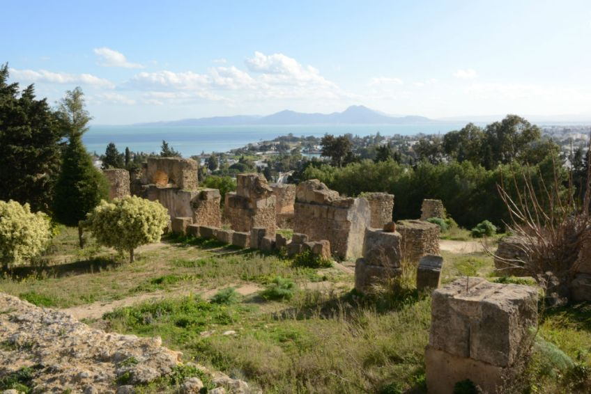 De ruïnes van Carthago, uitkijkend op de antieke haven Foto: Rijksmuseum van Oudheden