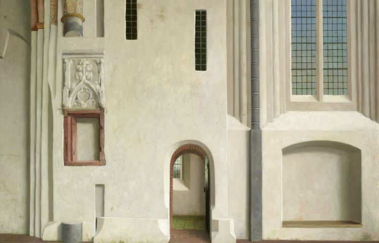 Gezicht op de noordmuur van het koor van de Nicolaikerk te Appingedam - Henk Helmantel, 2012 (Groninger Museum)