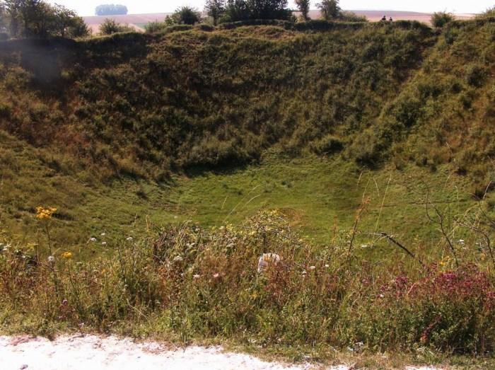 Krater op het slagveld aan de Somme - cc