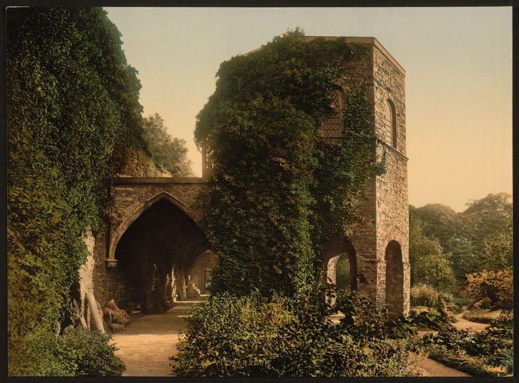 Photochrom van de Gentse Sint-Baafsabdij (Library of Congress)