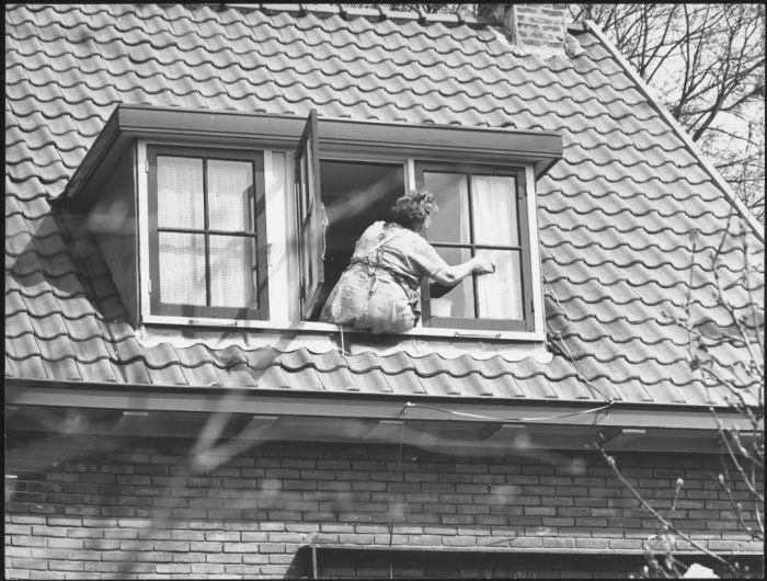 Ramenlappen, Haarlem, 1961. Vervaardiger Theo van Houts. Bron Collectie Regionaal Archief Alkmaar