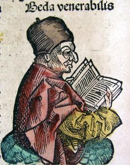 De Angelsaksische monnik Beda bijgenaamd Venerabilis